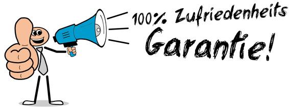 100% Zufriedenheits Garantie